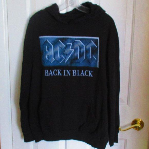 AC/DC Back in Black Hoodie MED/LG